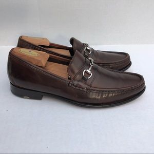 Horsebit BIT Loafers BROWN 9.5D Real Leather